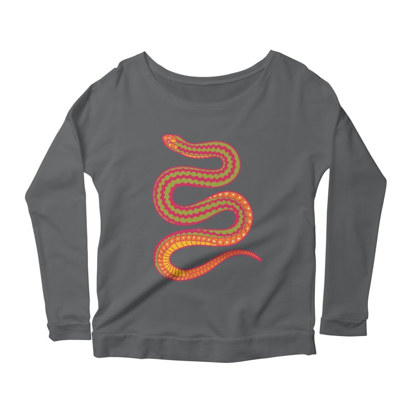 forbidden fruit Women's Longsleeve Scoopneck  by okik's Artist Shop