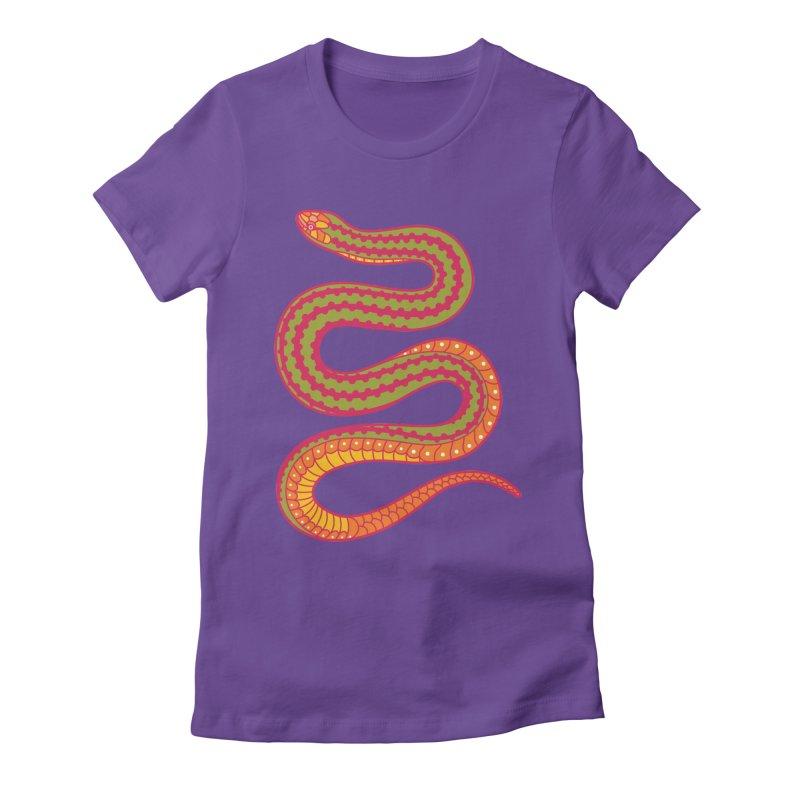 forbidden fruit Women's Fitted T-Shirt by okik's Artist Shop