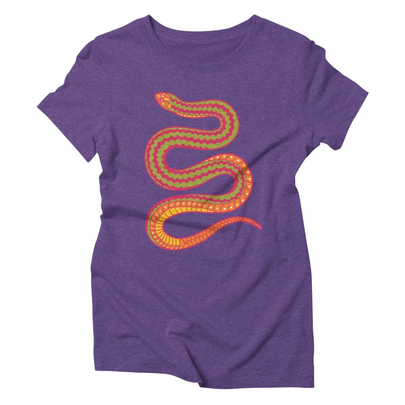 forbidden fruit Women's Triblend T-Shirt by okik's Artist Shop
