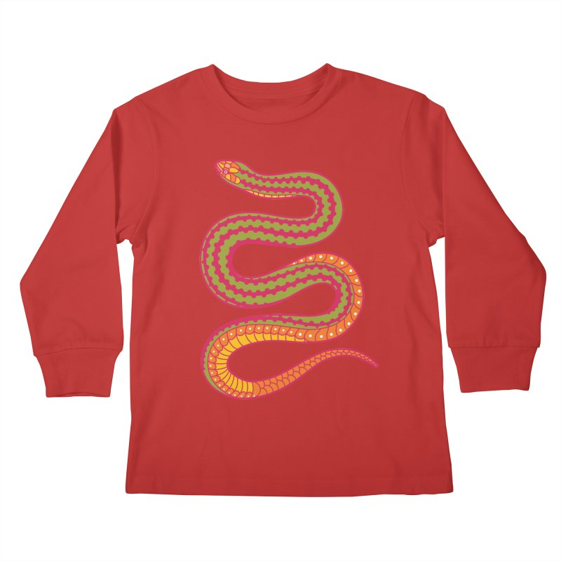 forbidden fruit Kids Longsleeve T-Shirt by okik's Artist Shop