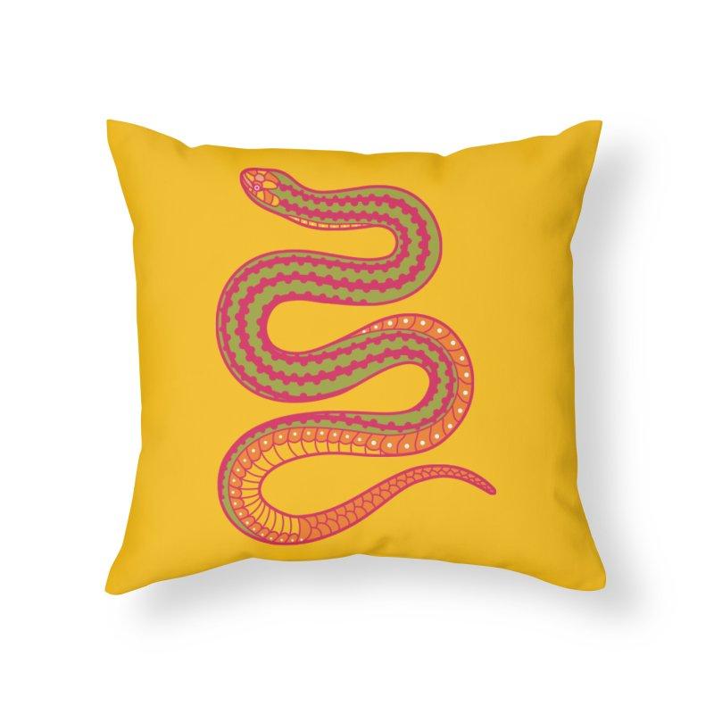 forbidden fruit Home Throw Pillow by okik's Artist Shop