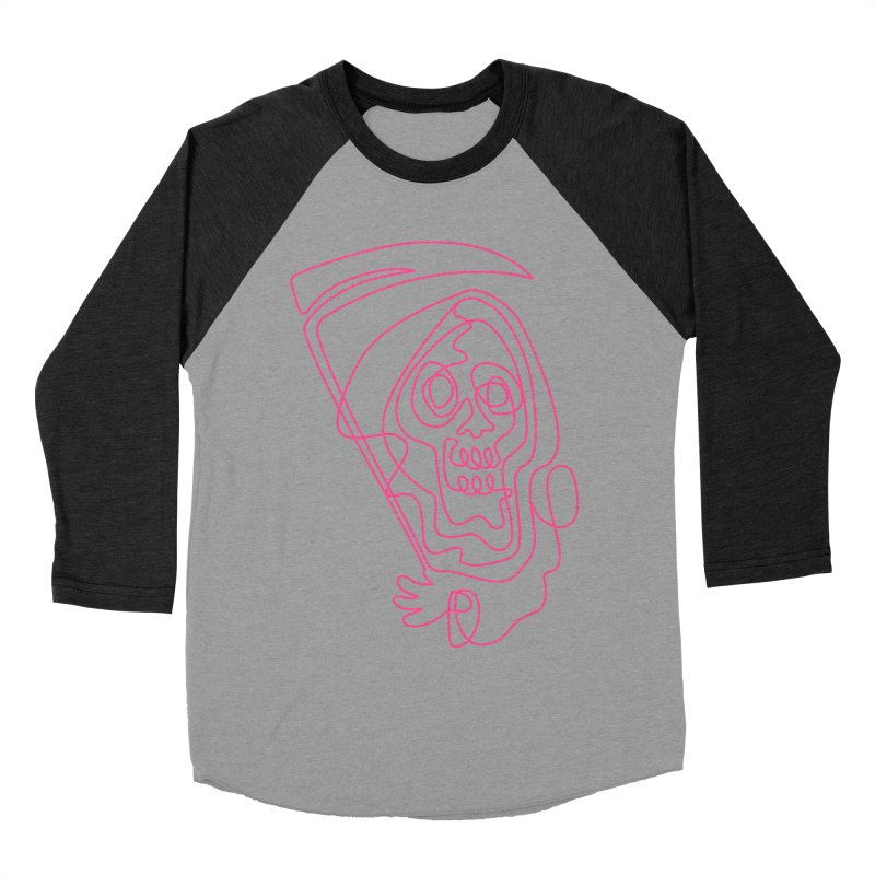 flatliner Men's Baseball Triblend T-Shirt by okik's Artist Shop