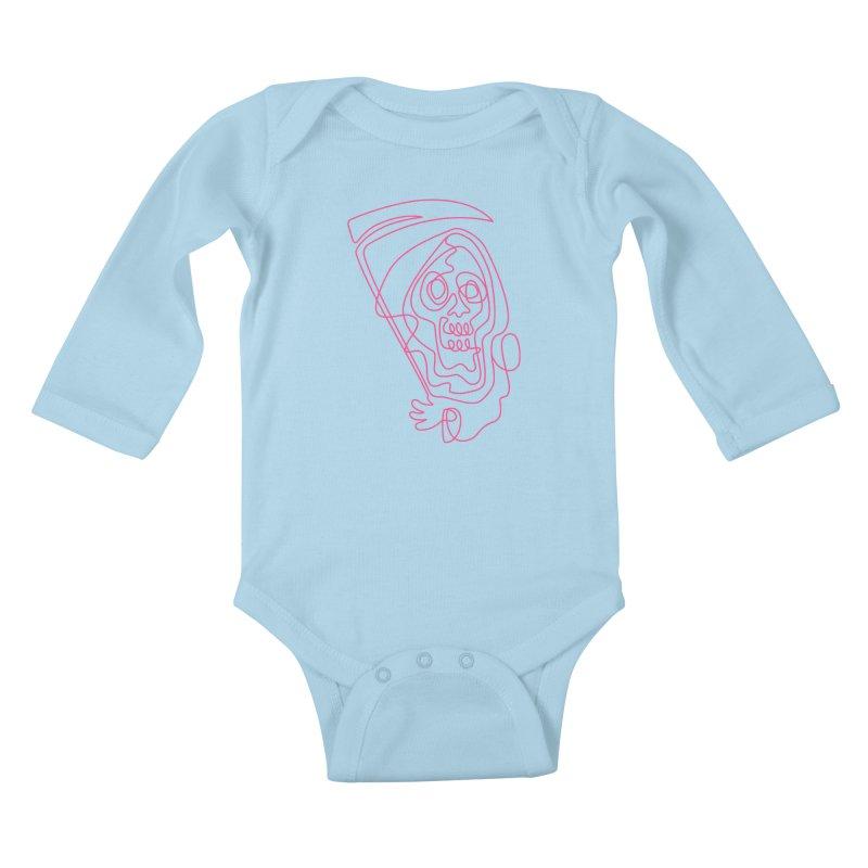 flatliner Kids Baby Longsleeve Bodysuit by okik's Artist Shop