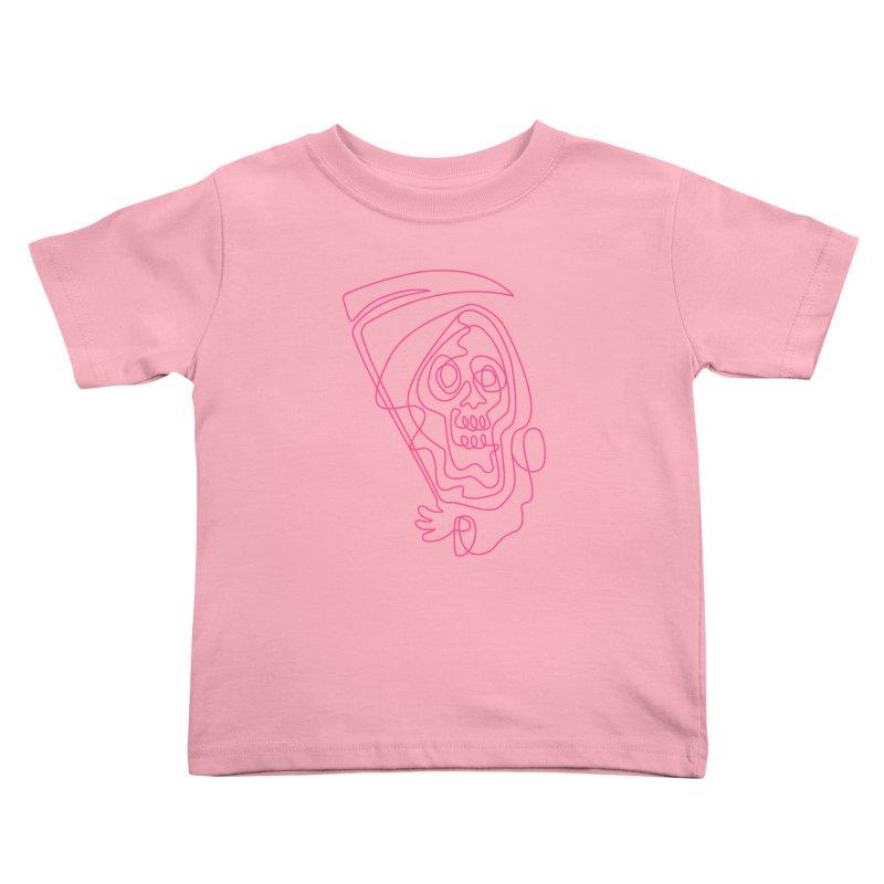 flatliner Kids Toddler T-Shirt by okik's Artist Shop