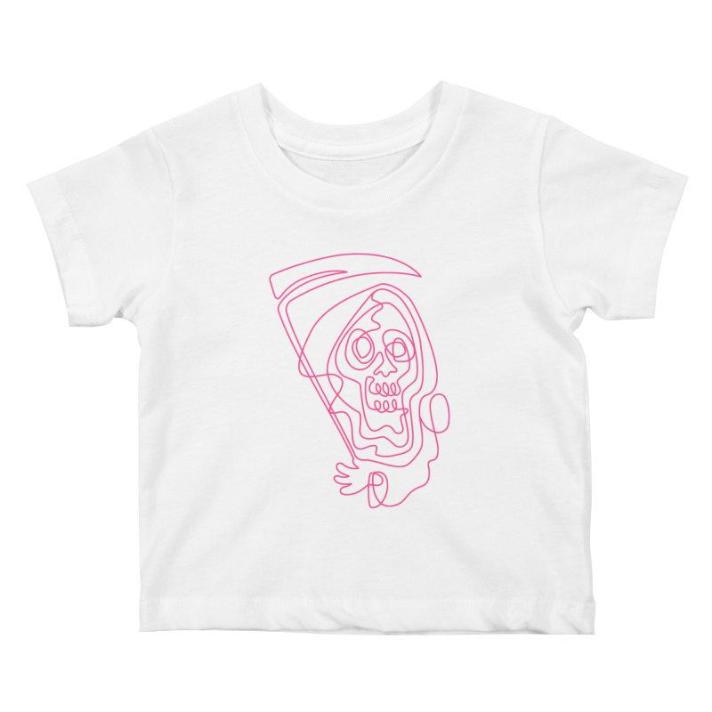 flatliner Kids Baby T-Shirt by okik's Artist Shop