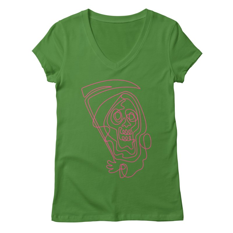 flatliner Women's V-Neck by okik's Artist Shop
