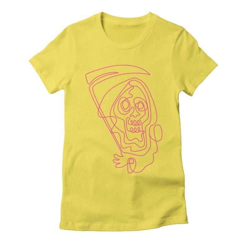 flatliner Women's Fitted T-Shirt by okik's Artist Shop