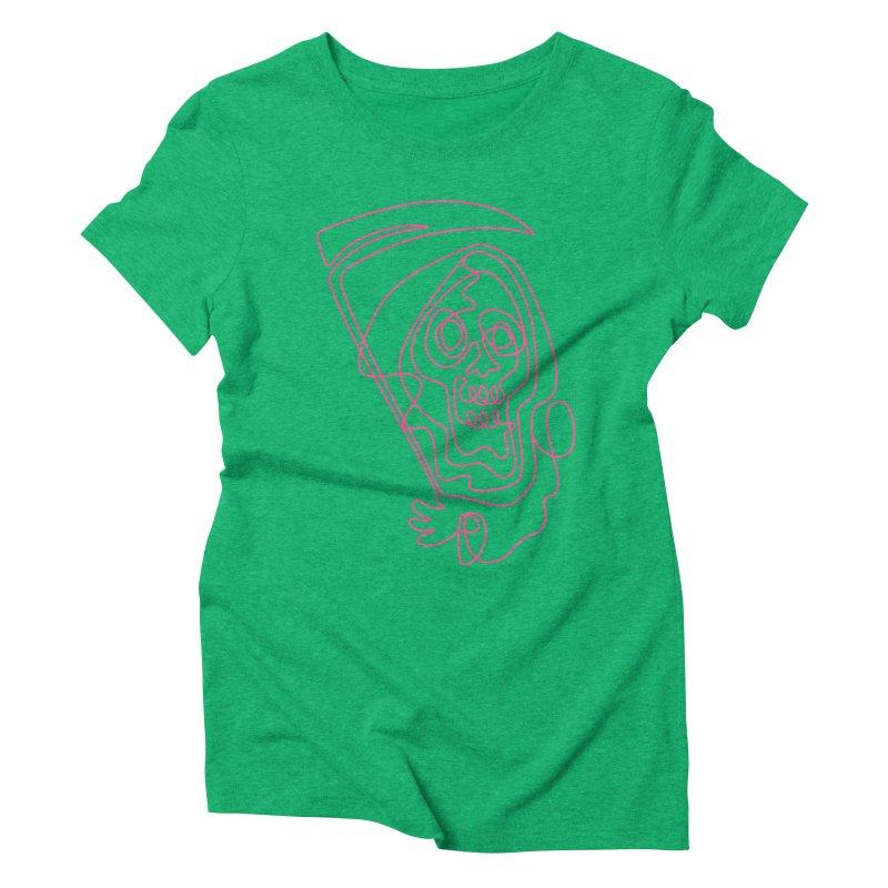 flatliner Women's Triblend T-Shirt by okik's Artist Shop