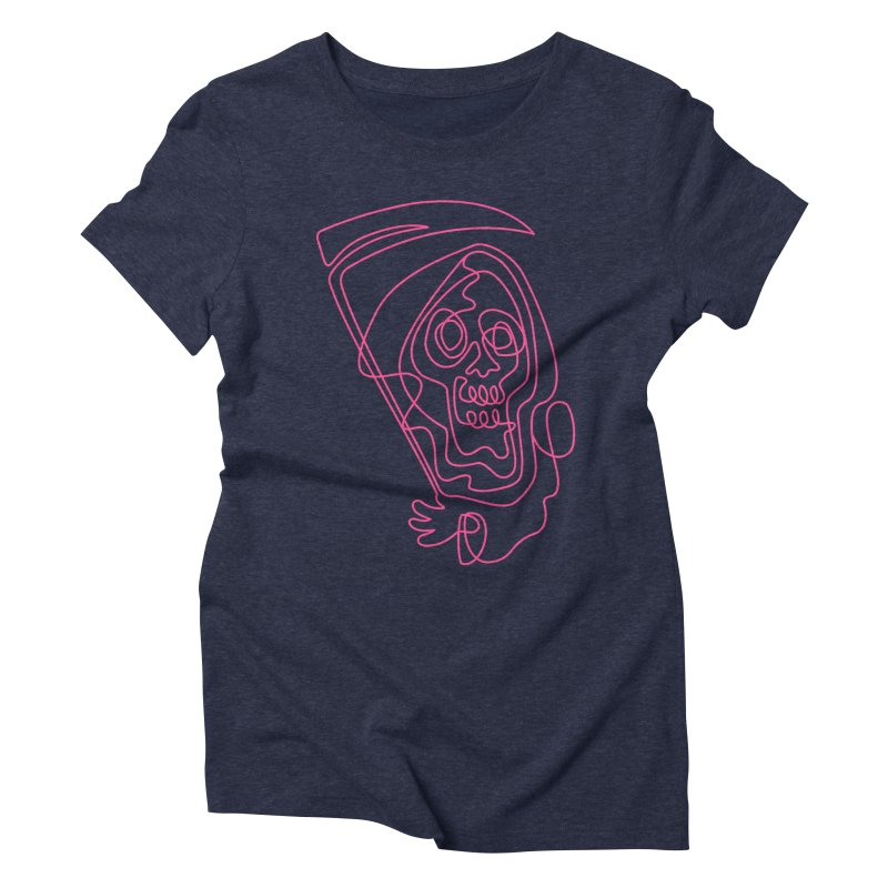flatliner Women's Triblend T-Shirt by okik's Artist Shop