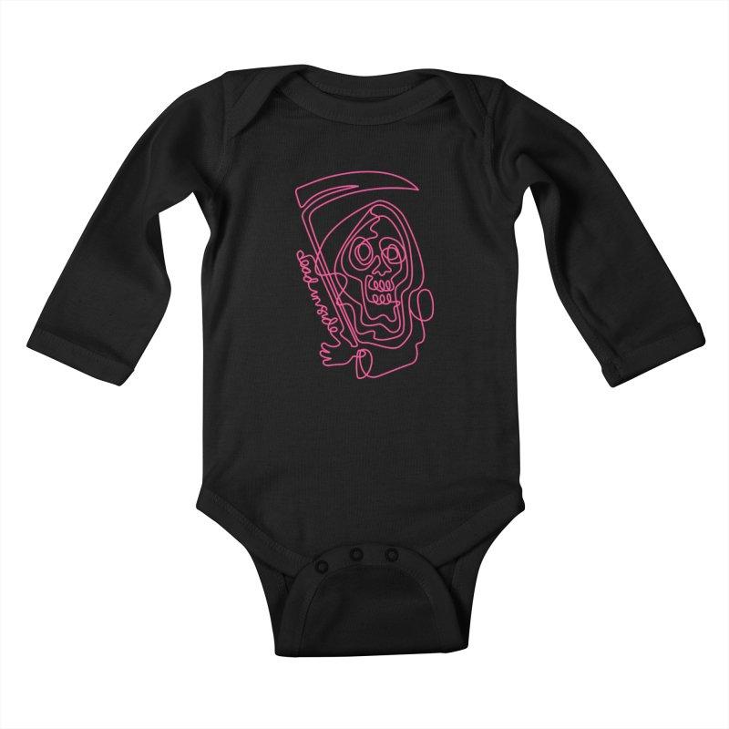 dead inside Kids Baby Longsleeve Bodysuit by okik's Artist Shop