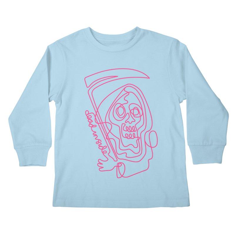 dead inside Kids Longsleeve T-Shirt by okik's Artist Shop