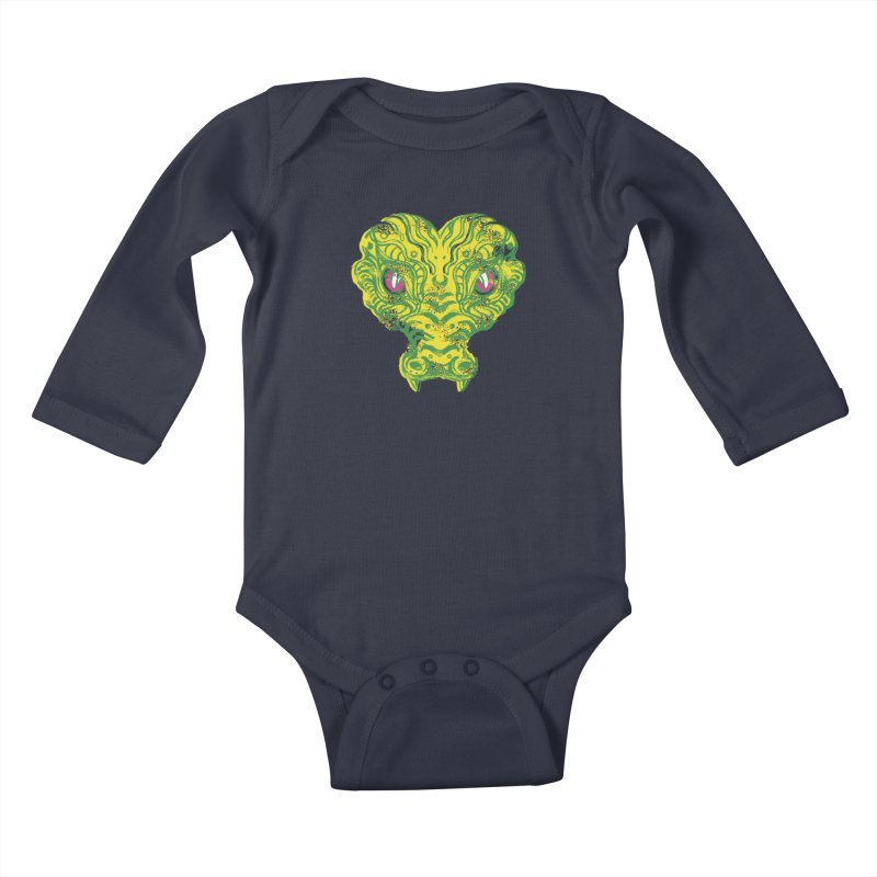 watching you Kids Baby Longsleeve Bodysuit by okik's Artist Shop