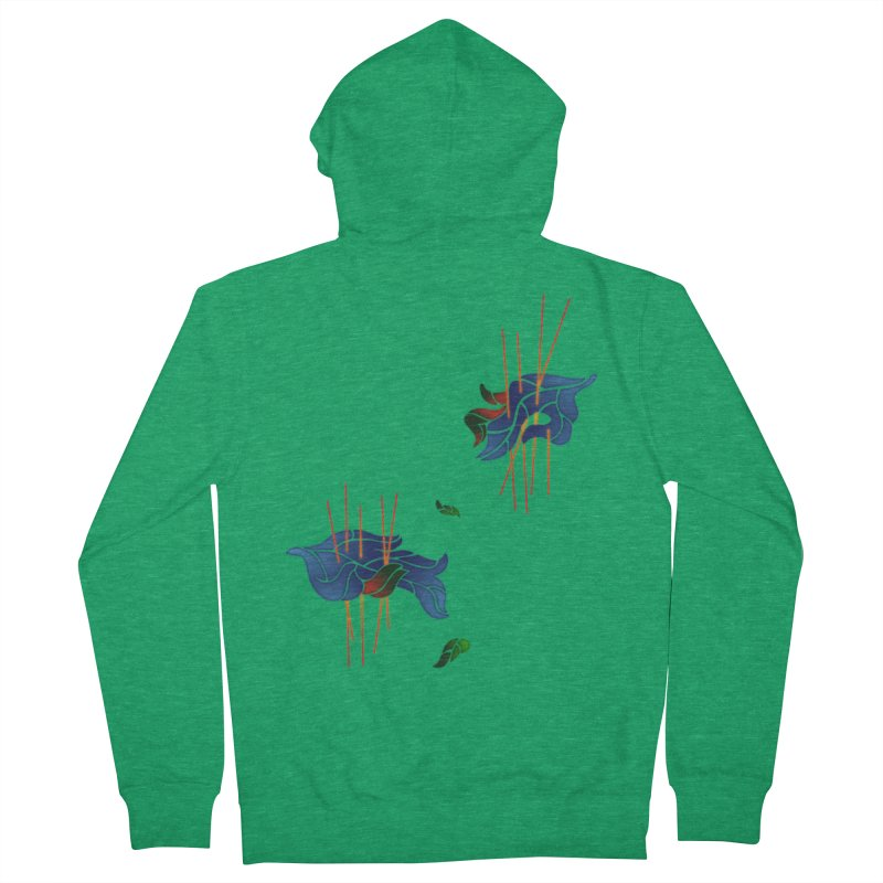 nature's love Women's French Terry Zip-Up Hoody by okik's Artist Shop