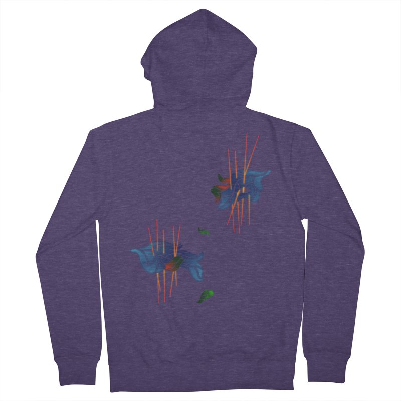 nature's love Men's French Terry Zip-Up Hoody by okik's Artist Shop