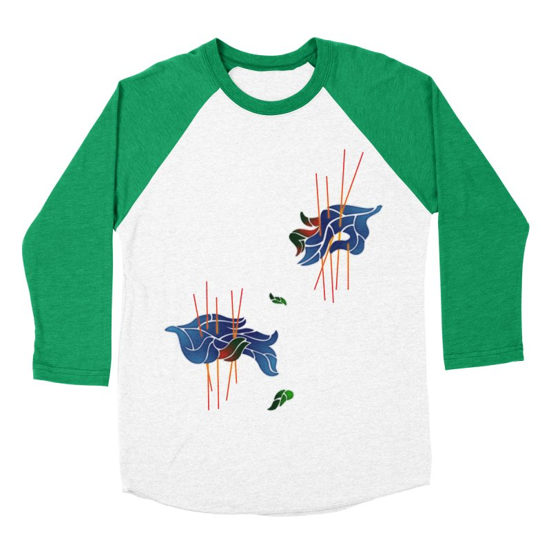 nature's love Women's Baseball Triblend Longsleeve T-Shirt by okik's Artist Shop