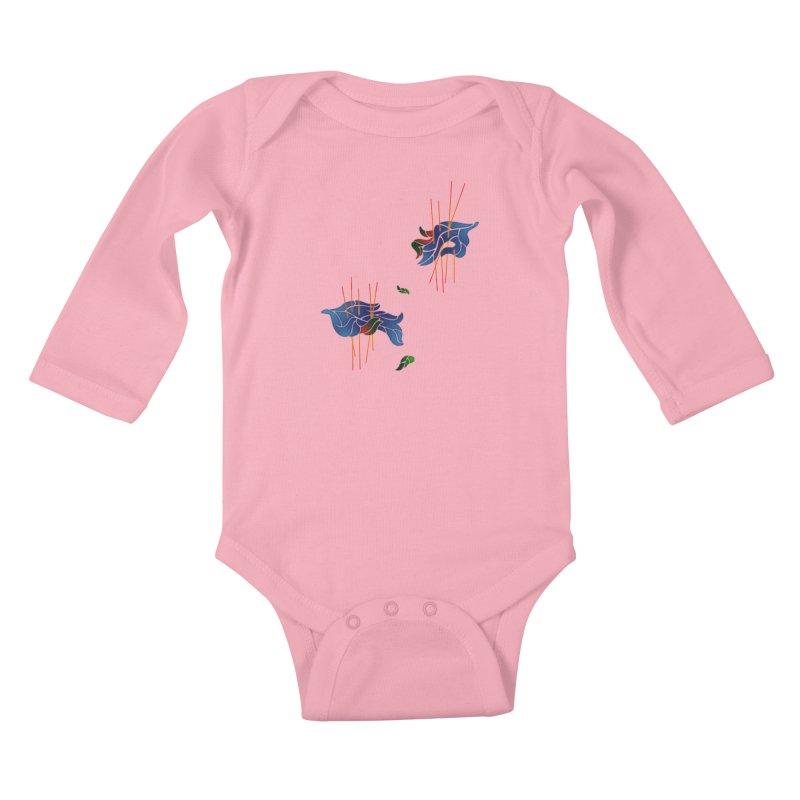nature's love Kids Baby Longsleeve Bodysuit by okik's Artist Shop
