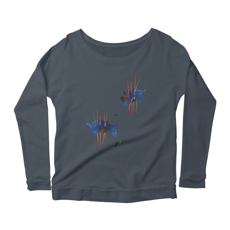 nature's love Women's Longsleeve Scoopneck  by okik's Artist Shop
