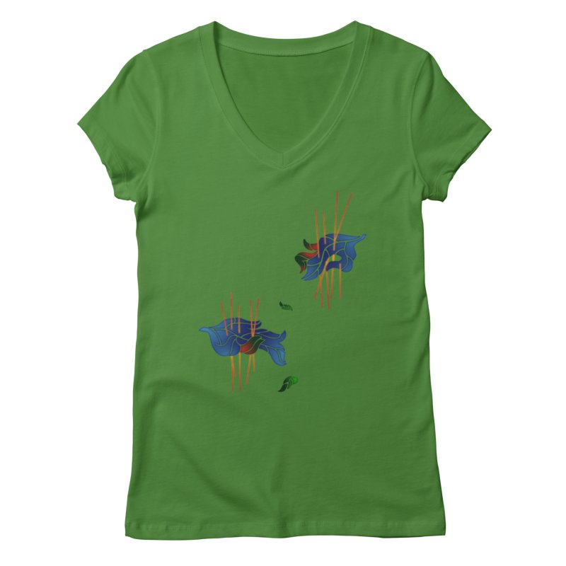 nature's love Women's V-Neck by okik's Artist Shop