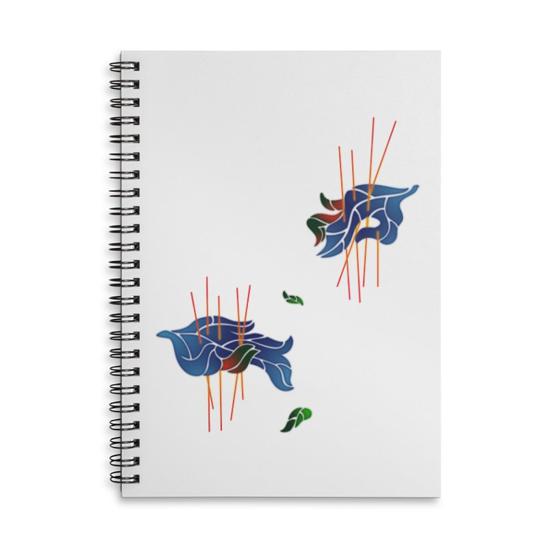 nature's love Accessories Lined Spiral Notebook by okik's Artist Shop