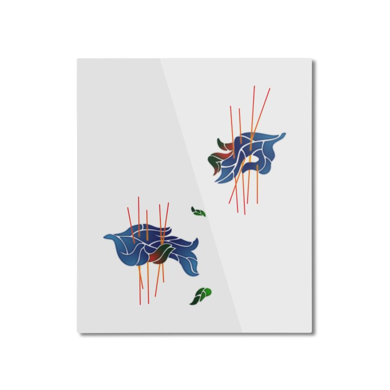 nature's love Home Mounted Aluminum Print by okik's Artist Shop