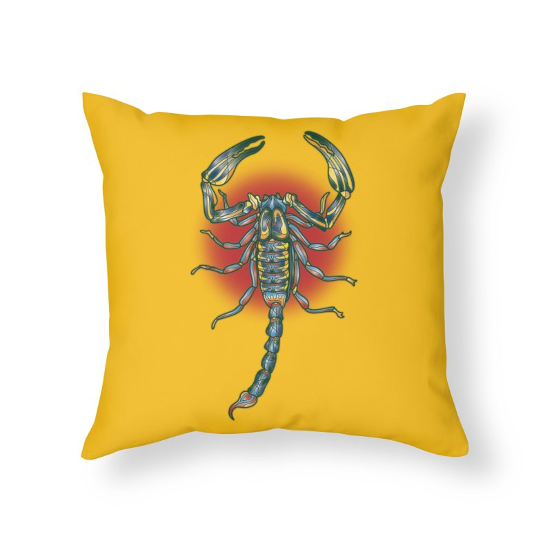 sting me Home Throw Pillow by okik's Artist Shop