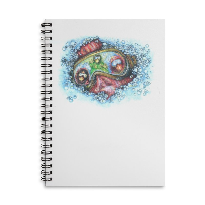survivor Accessories Lined Spiral Notebook by okik's Artist Shop