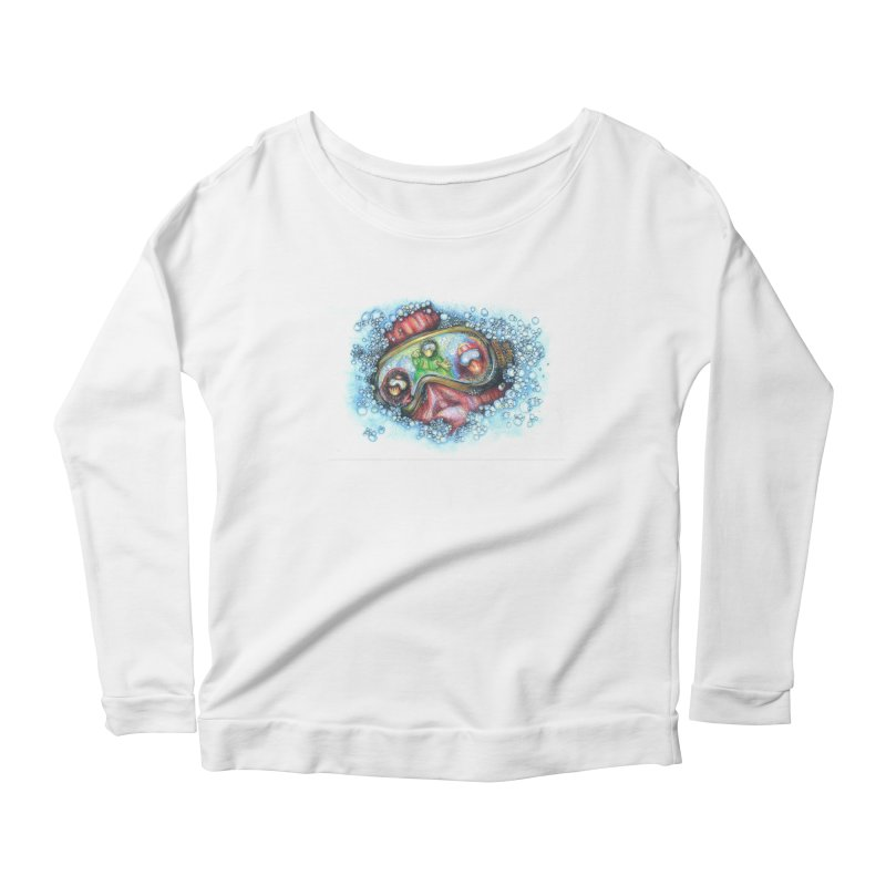survivor Women's Longsleeve Scoopneck  by okik's Artist Shop