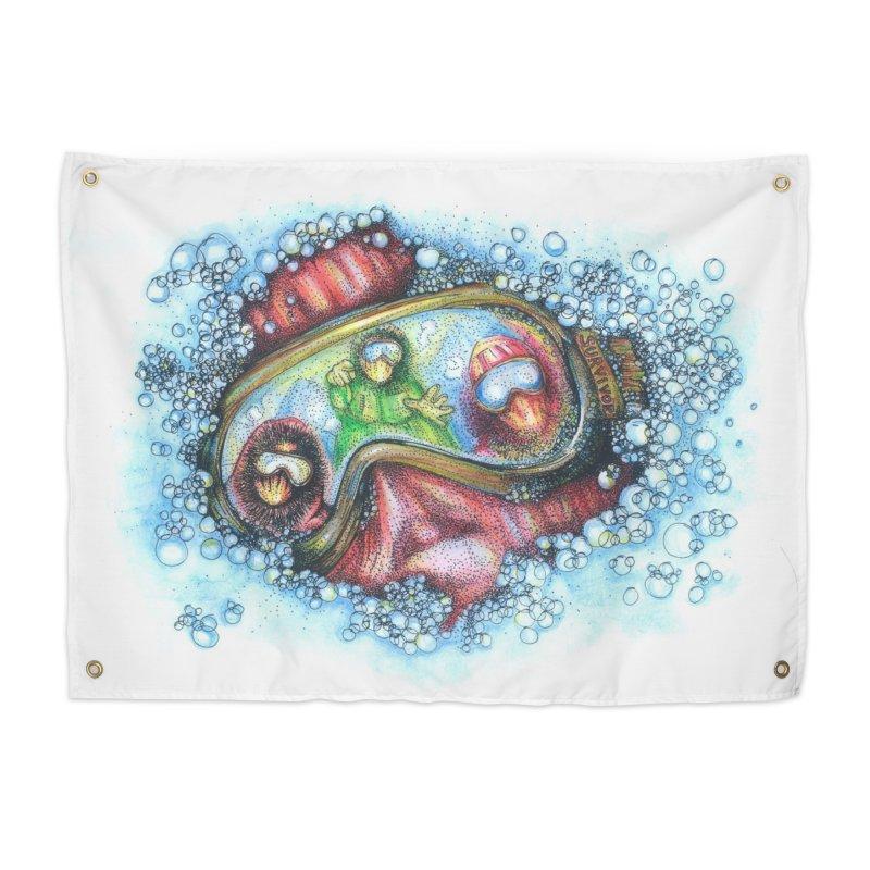 survivor Home Tapestry by okik's Artist Shop