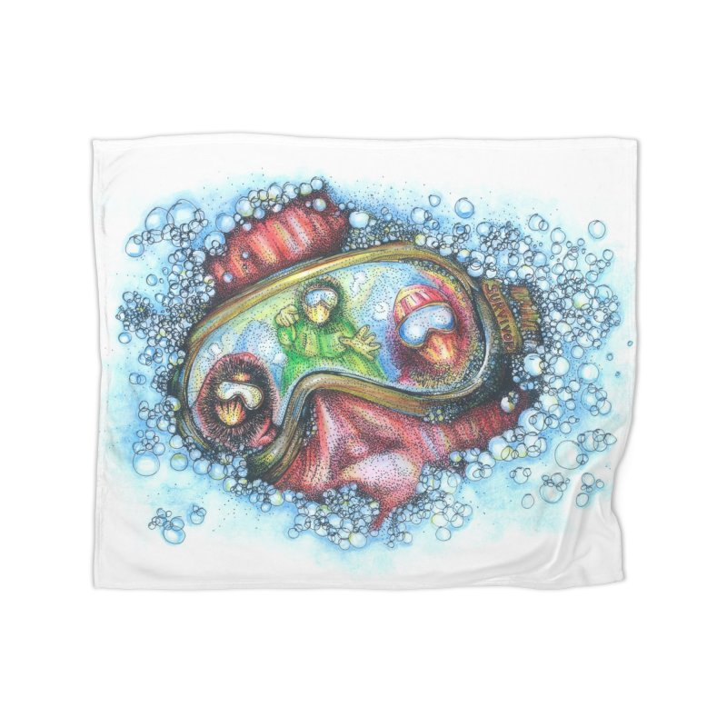 survivor Home Fleece Blanket Blanket by okik's Artist Shop