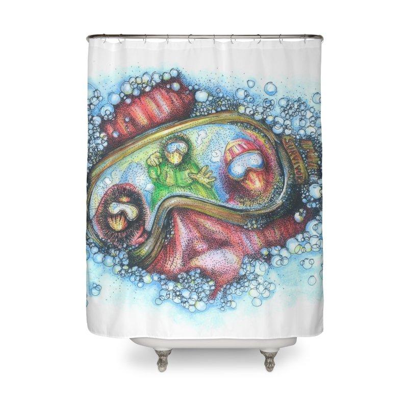 survivor Home Shower Curtain by okik's Artist Shop