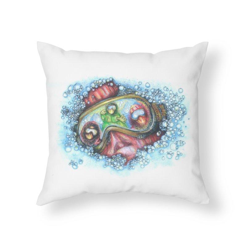 survivor Home Throw Pillow by okik's Artist Shop