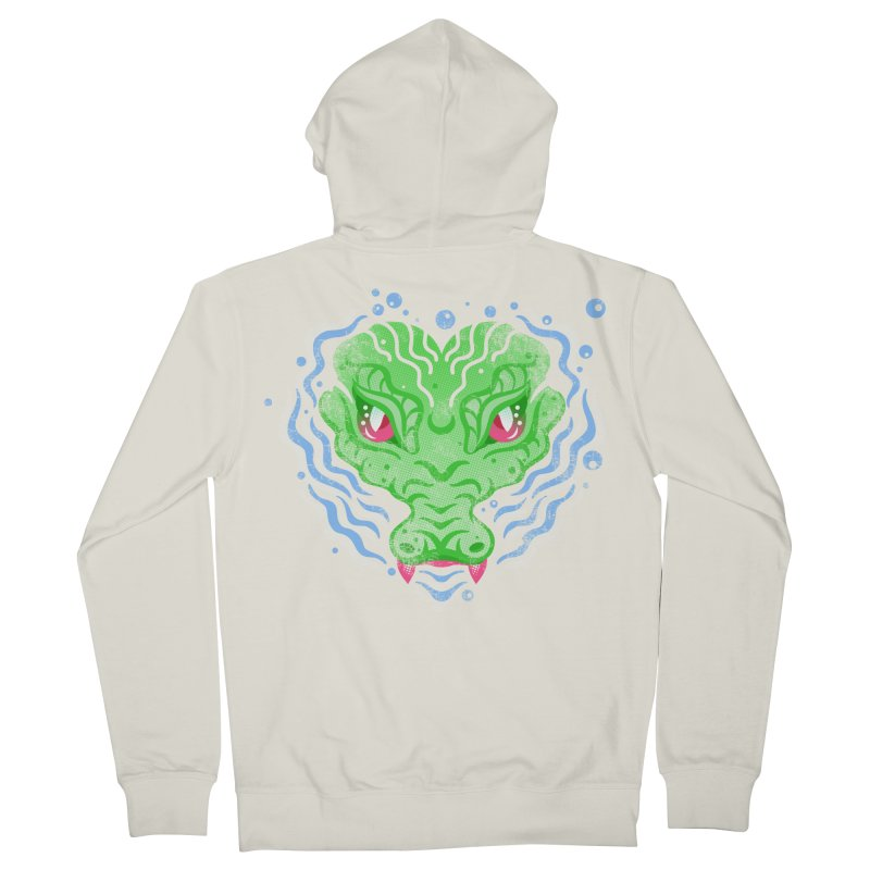 luv u 2 death Men's French Terry Zip-Up Hoody by okik's Artist Shop
