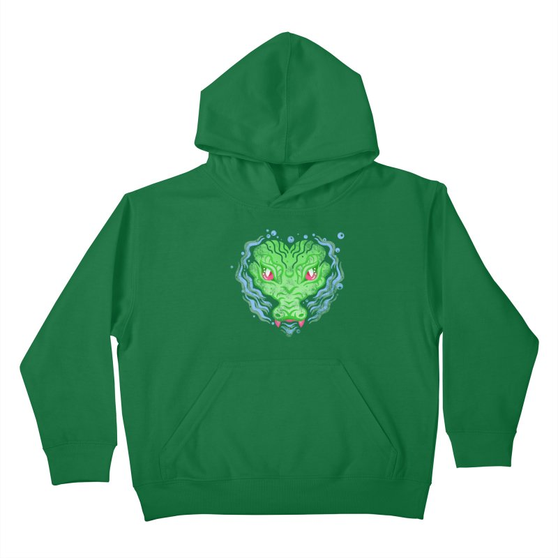 luv u 2 death Kids Pullover Hoody by okik's Artist Shop