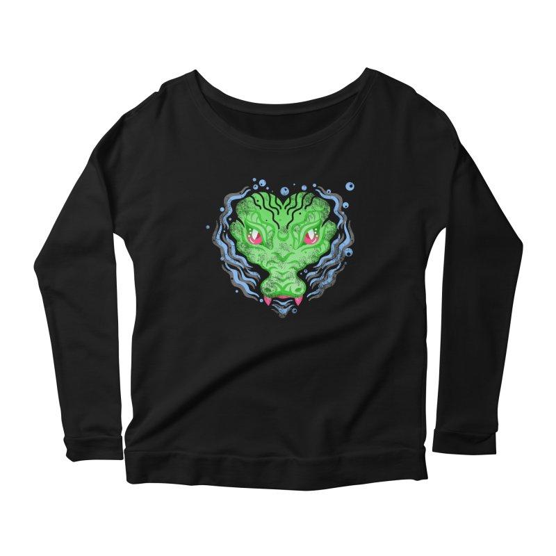 luv u 2 death Women's Scoop Neck Longsleeve T-Shirt by okik's Artist Shop