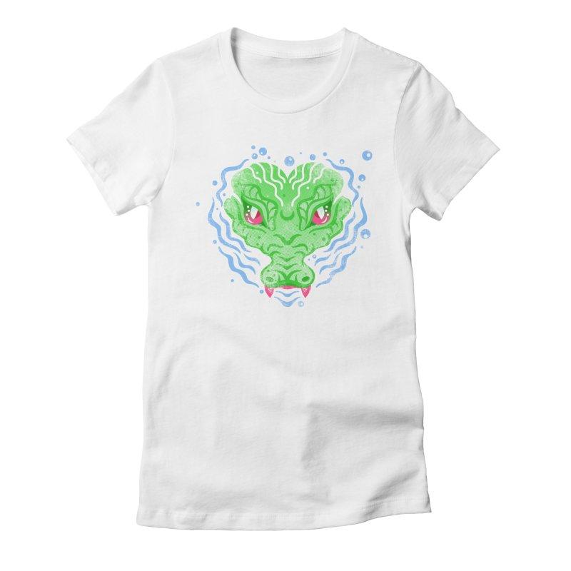 luv u 2 death Women's Fitted T-Shirt by okik's Artist Shop