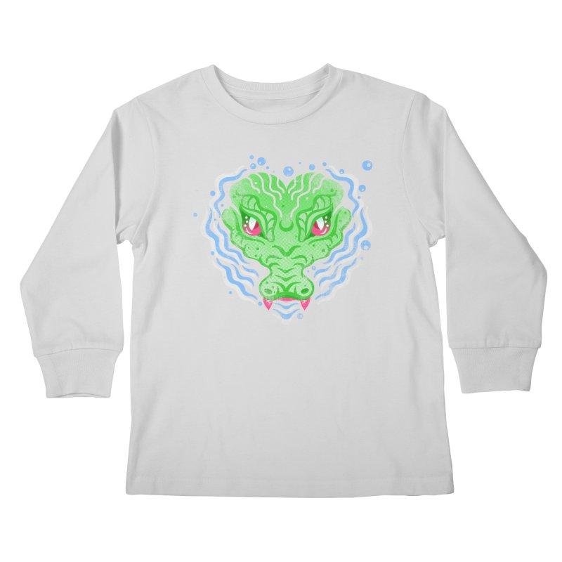 luv u 2 death Kids Longsleeve T-Shirt by okik's Artist Shop