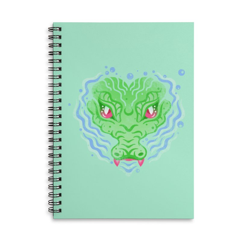 luv u 2 death Accessories Lined Spiral Notebook by okik's Artist Shop