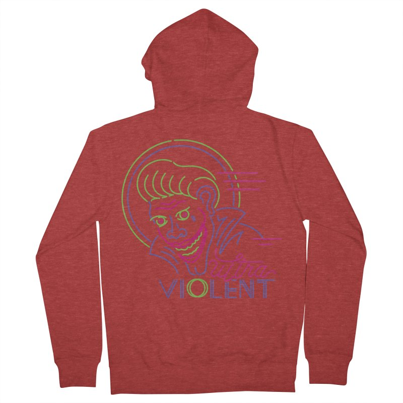 ultra violent Women's French Terry Zip-Up Hoody by okik's Artist Shop