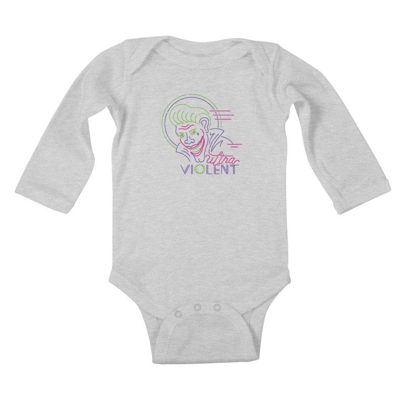 ultra violent Kids Baby Longsleeve Bodysuit by okik's Artist Shop