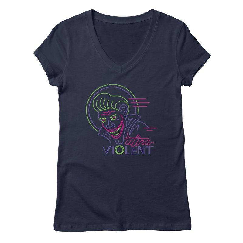 ultra violent Women's Regular V-Neck by okik's Artist Shop