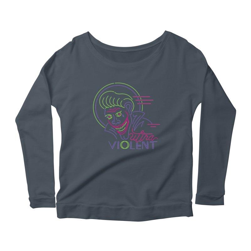 ultra violent Women's Scoop Neck Longsleeve T-Shirt by okik's Artist Shop