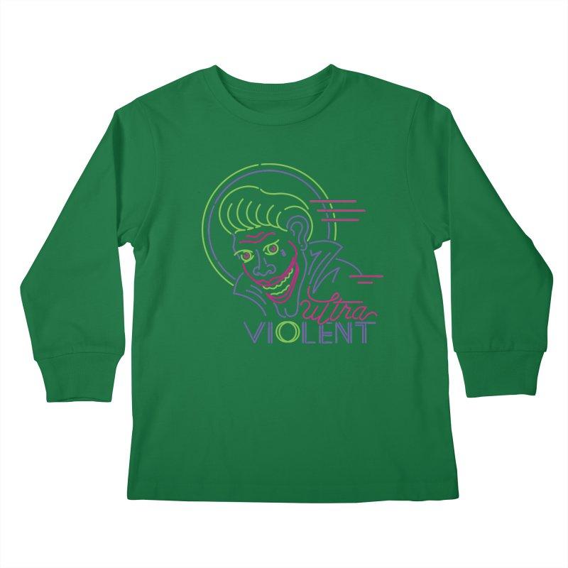ultra violent Kids Longsleeve T-Shirt by okik's Artist Shop