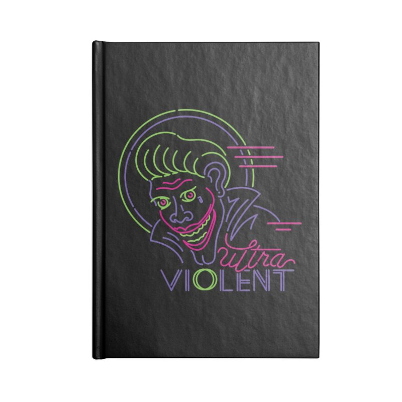 ultra violent Accessories Lined Journal Notebook by okik's Artist Shop
