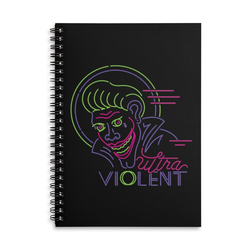 ultra violent Accessories Lined Spiral Notebook by okik's Artist Shop
