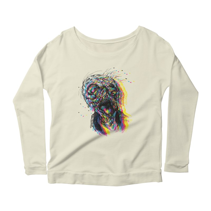 apokalipz now! Women's Longsleeve Scoopneck  by okik's Artist Shop