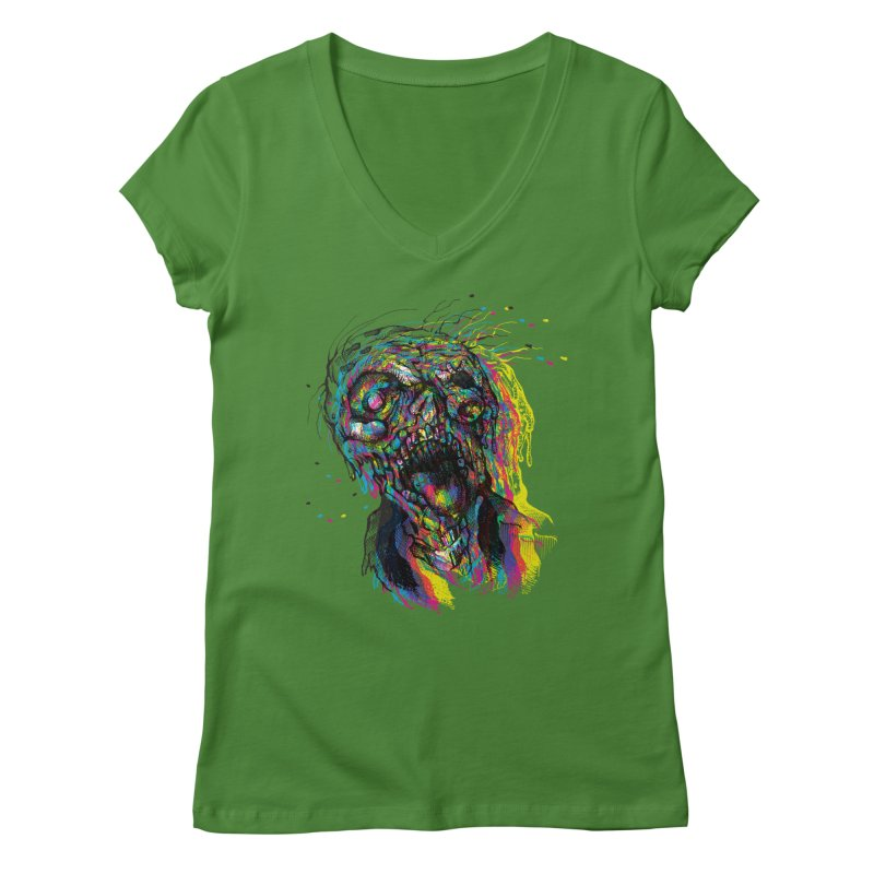 apokalipz now! Women's Regular V-Neck by okik's Artist Shop
