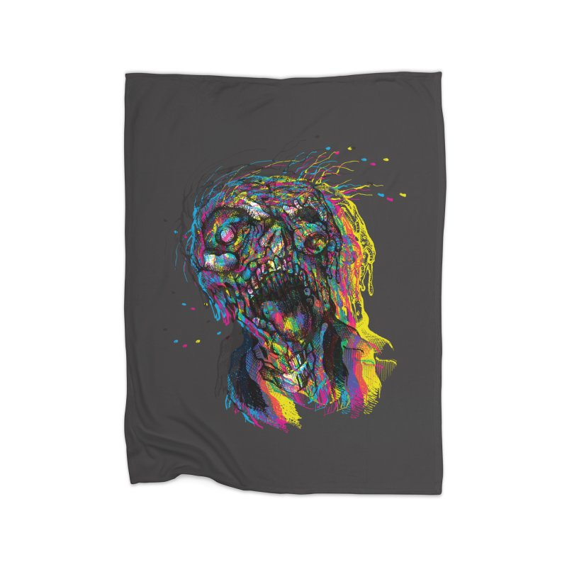 apokalipz now! Home Fleece Blanket Blanket by okik's Artist Shop