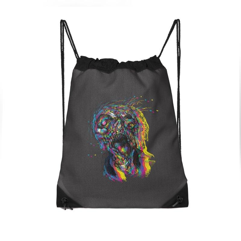 apokalipz now! Accessories Drawstring Bag Bag by okik's Artist Shop