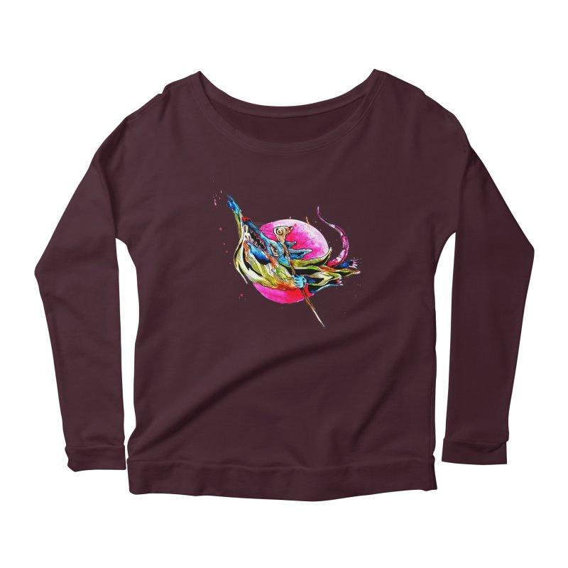 yo! Women's Scoop Neck Longsleeve T-Shirt by okik's Artist Shop