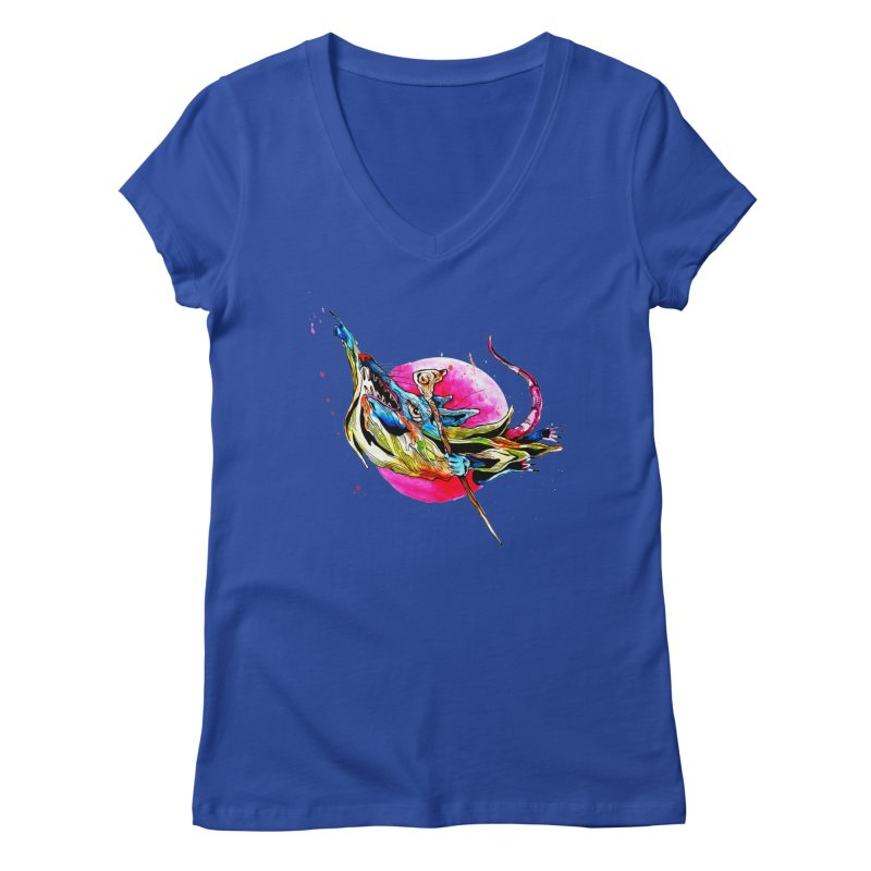 yo! Women's Regular V-Neck by okik's Artist Shop
